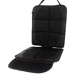 IntiPal チャイルドシート マット カーシートカバー 車保護シート シートプロテクター クッション 滑り止め コンビ収納ポケット付き
