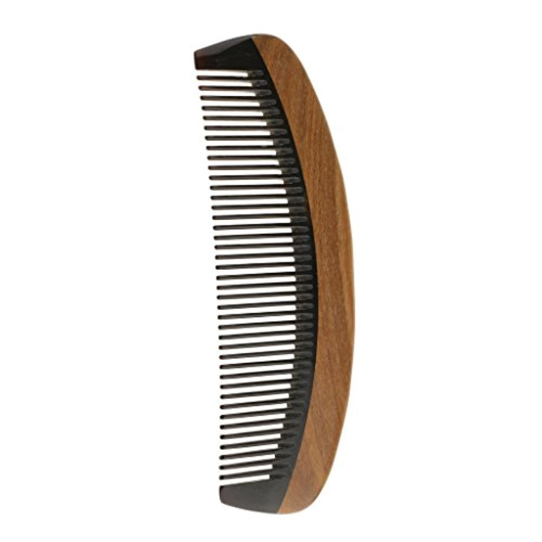 くびれた協力する拡声器ウッドコーム 木製 ハンドメイド 櫛 静電気防止 高品質 マッサージ