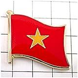 ピンバッジ ベトナム国旗デラックス薄型キャッチ付き星ヴェトナム ピンズ SOCIALIST REPUBLIC OF VIETNAM FLAG ピンバッチ