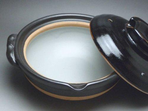 柚子天目 6号深鍋(一人用)日本製萬古焼土鍋