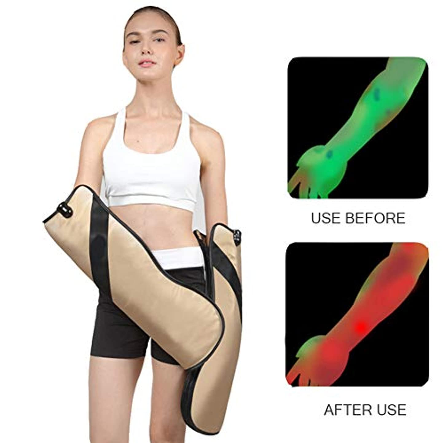 下品成分どこでもハンドマッサージャー振動加熱電気腰首肩マッサージャー電気子午線理学療法高齢者の腕手関節マッサージ指