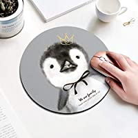 Round Mouse pad コンピューター用ノートブック 20 cm Staying cute penguin