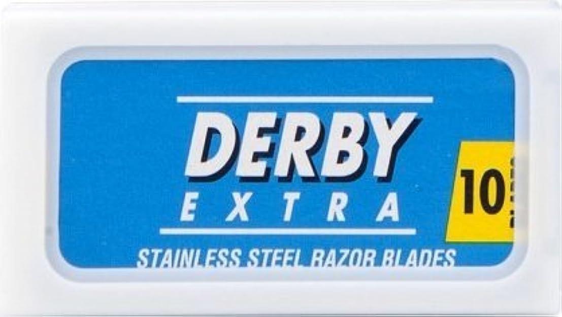固体脳月曜Derby Extra Blue 両刃替刃 10枚入り(10枚入り1 個セット)【並行輸入品】