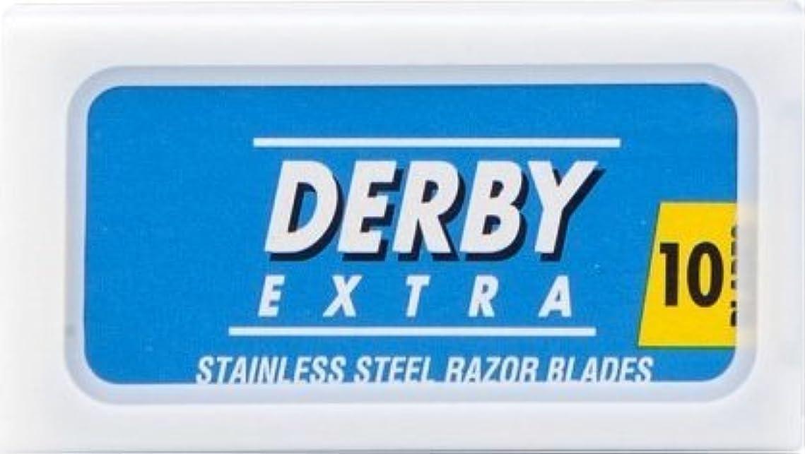 改善解くみすぼらしいDerby Extra Blue 両刃替刃 10枚入り(10枚入り1 個セット)【並行輸入品】