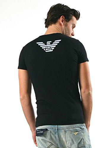 (エンポリオアルマーニ) EMPORIO ARMANI UNDERWEAR イーグルロゴ 半袖 Tシャツ アルマーニ メンズ ブランド【並行輸入品】 XL ブラック