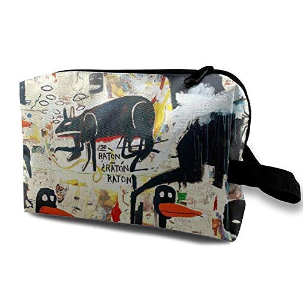 シアーすりホイップJoycego バスキア ポーチ バッグ 化粧バッグ 収納袋 ジッパー付きポータブル メイクポーチ