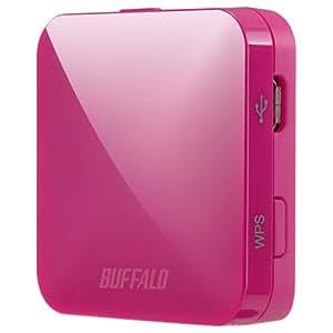 BUFFALO【iphone6 対応】11ac/n/a/b/g 無線LAN親機(Wi-Fiルーター)エアステーション QRsetup 433Mbps ピンク WMR-433-PK (利用推奨環境1人・ホテル用)