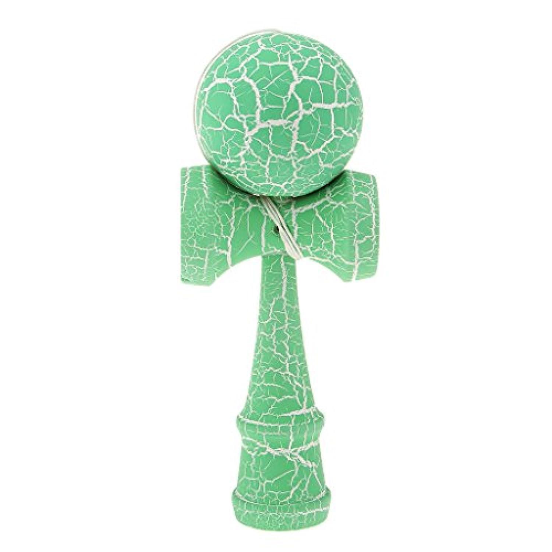 KOZEEY緑と白 木製 亀裂 塗料 けん玉 おもちゃ 子供 ボールゲーム