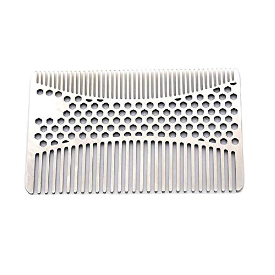 待って危険を冒しますミルなめらかな、耐久性のあるステンレススチールの髪と髭の櫛 - 2個財布櫛 モデリングツール (色 : Silver)