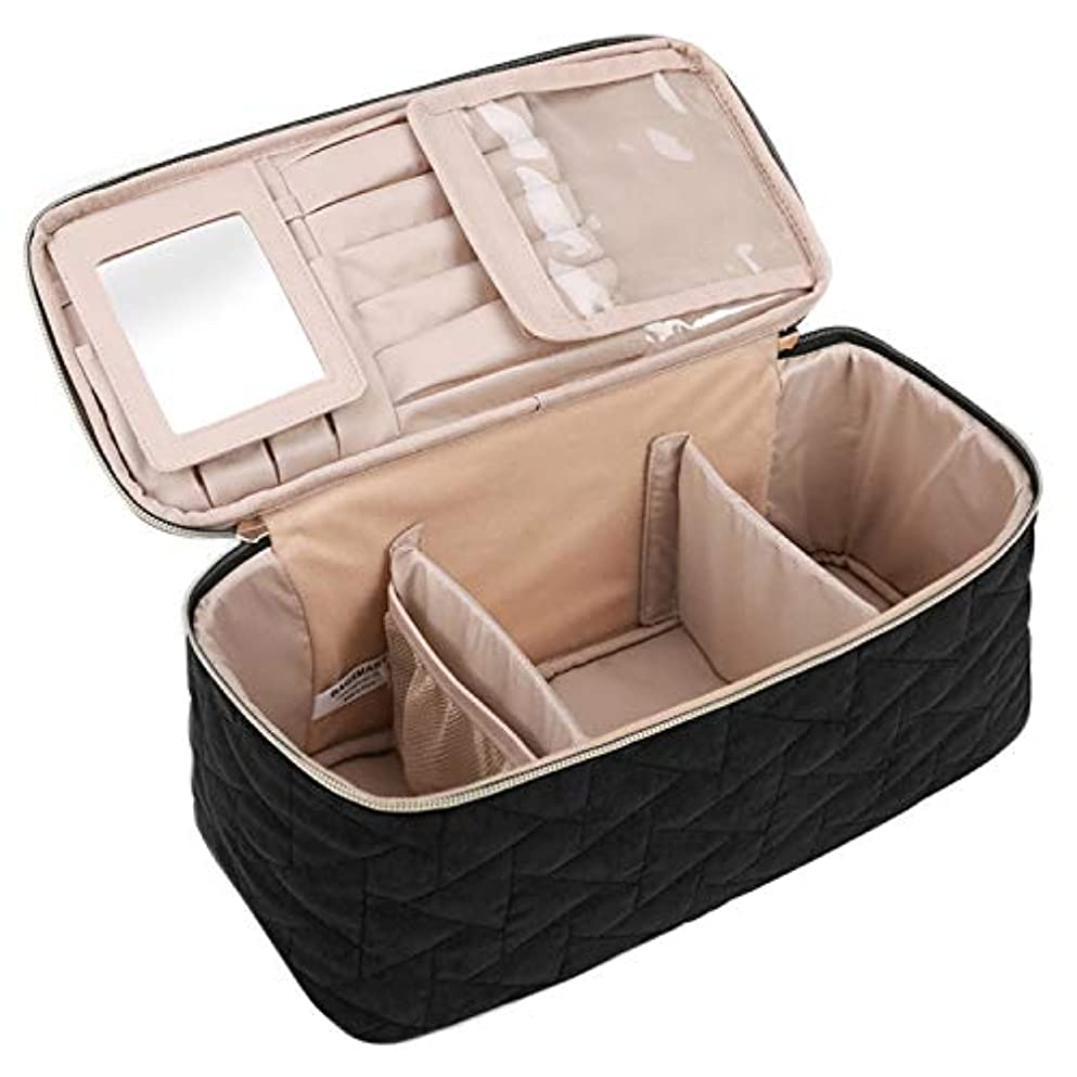 悲惨な水を飲む投資する(バッグスマート) BAGSMARTメイクボックス コスメボックス 化粧ポーチ メイクブラシバッグ 収納ケース 機能的 大容量
