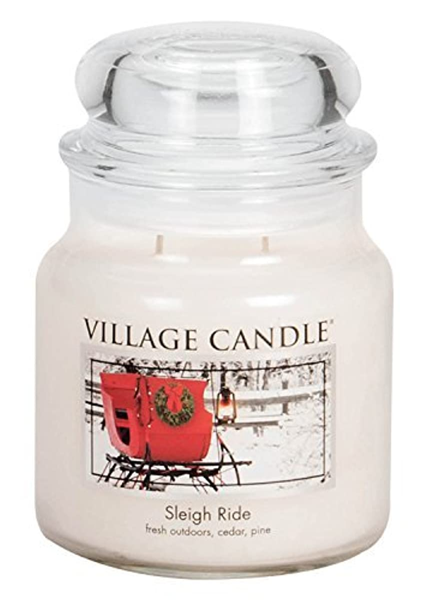 死にかけている疎外母性Village Candle Sleigh Ride 16 oz Glass Jar Scented Candle%???% Medium [並行輸入品]