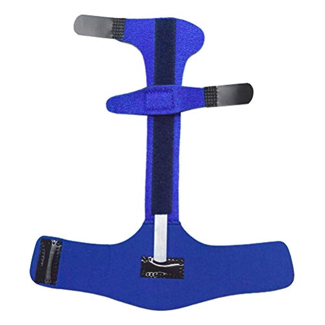 安定歯フラッシュのように素早くHealifty 指の添え木ジョイントコレクターサポート矯正手保護スリーブマレット指ブレース痛みを和らげる(青)