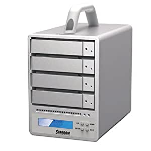 USB3.0/FireWire800/eSATA 搭載 RAID0/RAID5/JBOD対応4ベイRAID SOHOTANK SR4+(SR4-WBS3J)