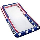 Toyvian アメリカの国旗パターンビュッフェクーラープレートアイスクーラーピクニックプールバーベキューパーティーでインフレータブルサービングバー