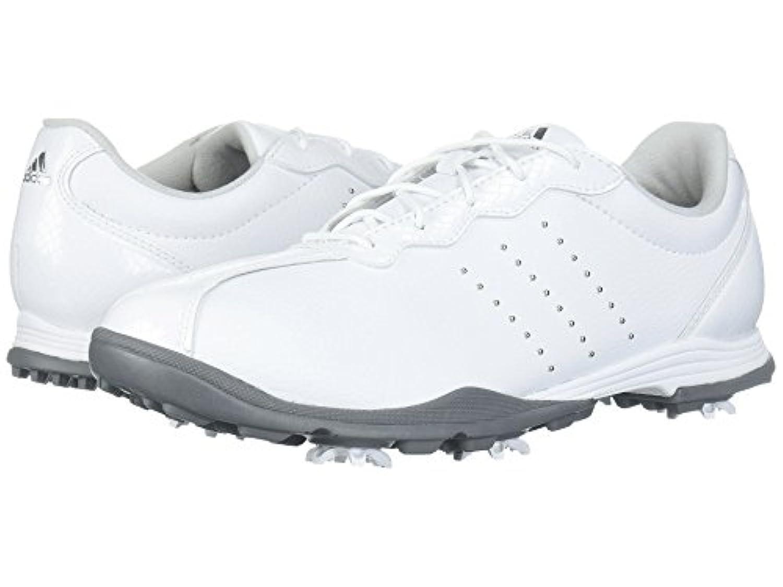 (アディダス) adidas レディースゴルフシューズ?靴 Adipure DC Footwear White/Silver Metallic/Silver Metallic 9 (26cm) M