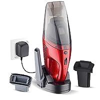 Nianle 湿式および乾式ハンドヘルド掃除機、2000mAhリチウムイオン電池付きコードレス充電式掃除機、家庭用および車用