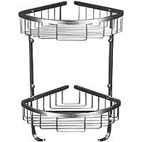 三角バスケットバスルーム棚ダブルバスケットバスケットバスルームコーナー棚バスケット