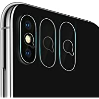 iphoneX カメラフイルム 0.1mm 強化ガラス 指紋防止 高硬度9H 自動装着 99%高透過率 耐衝撃 飛散防止 日本製旭硝子素材 カメラ液晶保護フィルム (iPhone Xカメラ専用)