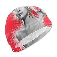 スイムキャップ キッズ Audrey Hepburn オードリー・ヘップバーン 水泳キャップ 子供 スイムキャップ キッズ 水泳 キャップ 子供用 スイミングキャップ プール帽 スプラトゥーン帽子 男児 女児 UVカット スイミング帽子 プール帽子 ベビー