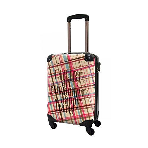 CARART(キャラート) アート スーツケース ベーシック マドラスチェック (マドラス4) ジッパー4輪 機内持込 CRA02-020D