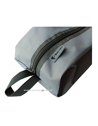 WR(撥水加工) シューズ&コモディティーケース (グレー) *2個同時購入でコンプラス特製吸湿速乾タオルプレゼント