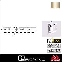e-kanamono ロイヤル 棚柱 チャンネルペッカーサポート17(シングル) PSF-17 2400mm Aニッケルサテン