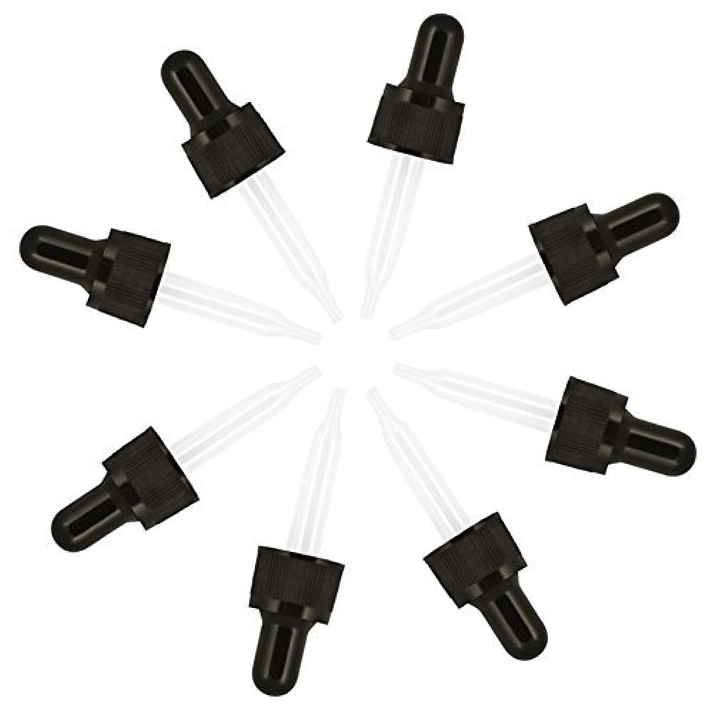 私たちのもの孤独なうなずくCettkowns 8-Pack Glass Eye Pre-Assembled Droppers Included Glass Droppers, Black Bulb and Tamper Seal for 5ml...