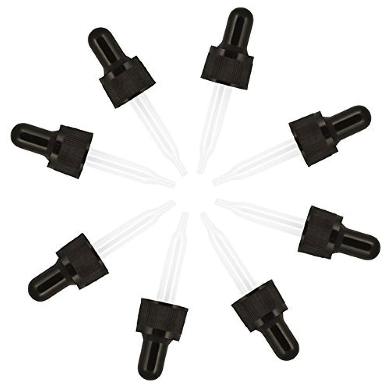 ロック解除ドーム乳白色Cettkowns 8-Pack Glass Eye Pre-Assembled Droppers Included Glass Droppers, Black Bulb and Tamper Seal for 5ml...