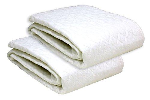 西川 汗とり敷きパッド 夏素材 ホワイト 寝具 (ジュニアサイズ 2点セット)...