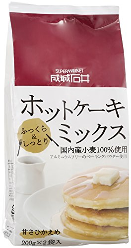 成城石井 国内産小麦100% 使用 ホットケーキミックス 400g