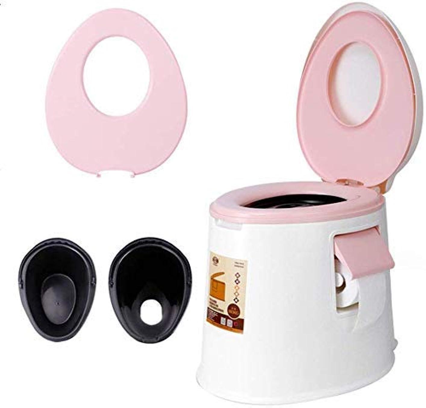 甘味解釈する志すポータブルトイレ、便器チェアキャンプ、家庭用大人の子供2人乗りポータブル便器、旅行屋外モバイルトイレ/クリーニング用品