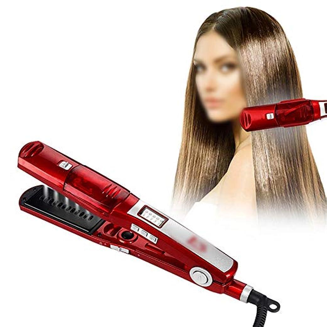 悪用プログレッシブ精巧なすべての毛、自動カーリングアイロンに使用される電気毛のカーラーの蒸気の毛のカーラー モデリングツール (色 : レッド)