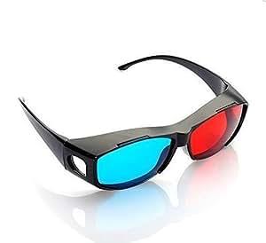 SODIAL(R) 3Dビジョン究極アナグリフ3Dメガネ - 度付き眼鏡の上から装着できる