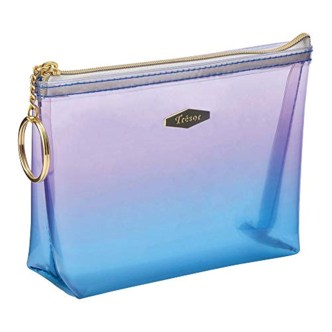 釈義かる財布マークス ミニポーチ 雑貨コレクション グラデーション ブルー GDT-PO02-BL