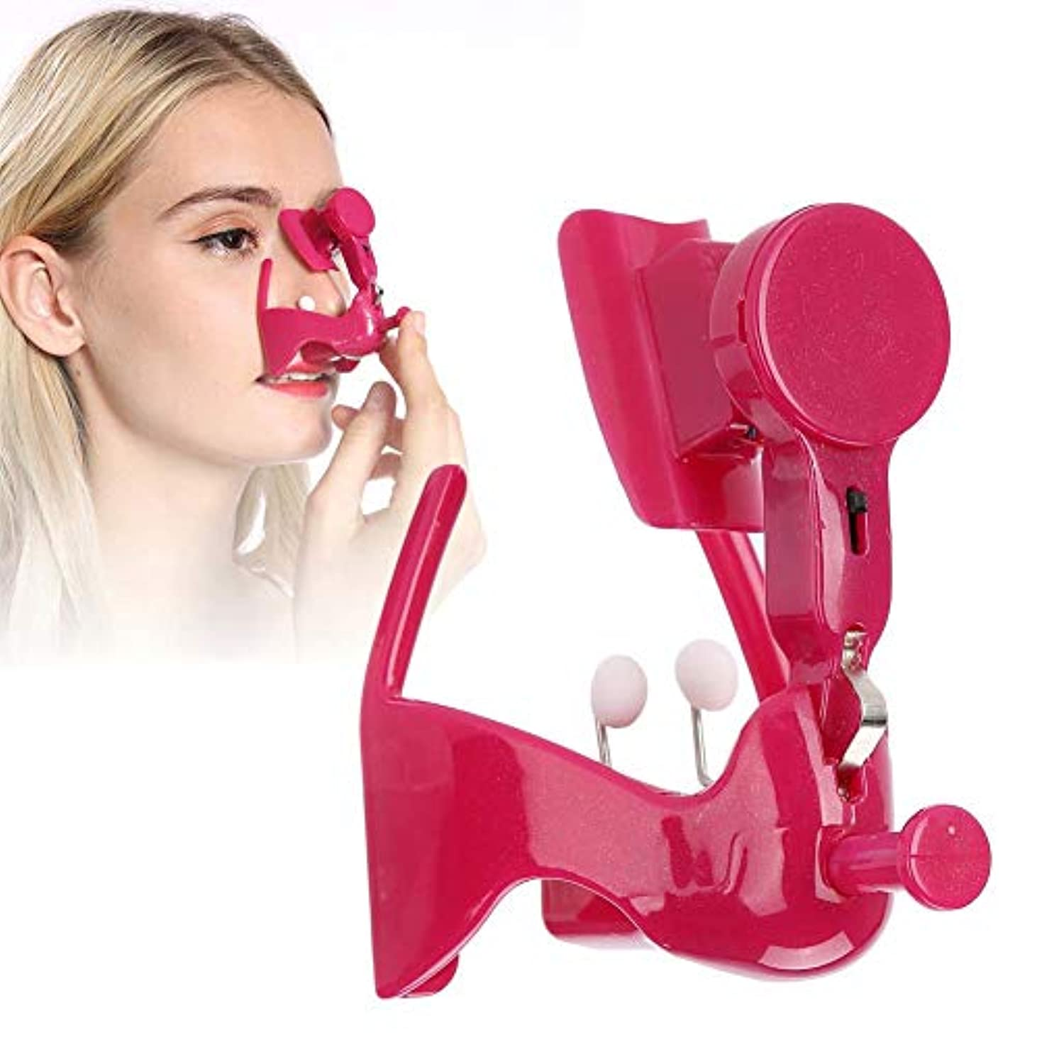 スクラッチ傾向があります重荷鼻筋 矯正 ノーズアップノーズクリップ 鼻高く鼻プチ 柔軟性高く バタリー付き