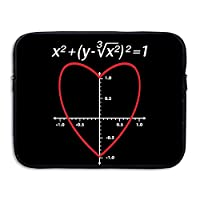 ZMviseLove Heart Equation Math Protective Slim Padded Laptop Soft Neoprene Sleeve Bag Case Cover for Notebook iPad Tablet Computer