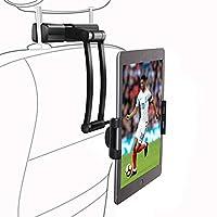 Swiftrans カーシート用タブレットホルダー 車載ホルダー スマホホルダー 車後部座席適用 調節可能 360度回転式 工具不要 5-12インチ適用 iPhone Samsung Galaxy iPad 2/3/4/mini/air Galaxy Tab/Google Nexusn等対応
