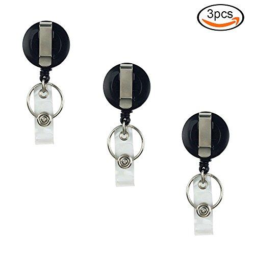 [해외]Whonline 릴 클립 3 개 세트 리프팅 명찰 용 릴 열쇠 고리 카드 홀더 클립/Whonline Reel Clip 3 Pieces Lifting Reel for Nameplate Key Holder Card Holder Clip Type