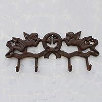 KTYX ヴィンテージ鍛造鉄壁の装飾天使のフック コートハンガー