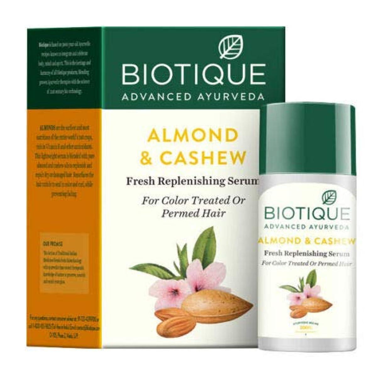 核熟練した梨Biotique Bio Almond & Cashew Fresh Replenishing Serum 40 ml For Permed Hair パーマ髪のためのBiotiqueバイオアーモンド&カシューナッツ新鮮...