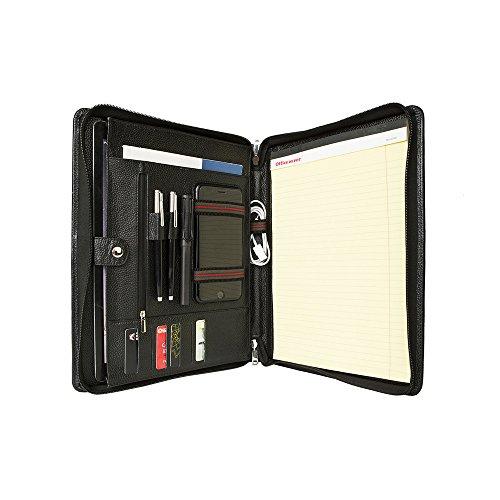 (コフェイス)Coface iPad Pro 12.9用 高級ビジネスパッドフォリオ 持ち手付き 多機能書類フォルダー ビジネスオーガナイザー ポートフォリオ A4 大容量 牛革本革 ブラック