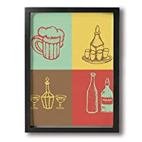 台所 厨房 用品 絵画 現代の絵 装飾画 油絵 壁ポスター アートパネル 壁飾り インテリアアート 木製の枠 モダン 額縁付き 30*40cm