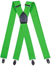 Zhhlaixing ファッション Unisex Mens High Quality Various Color Adjustable X-Back Braces