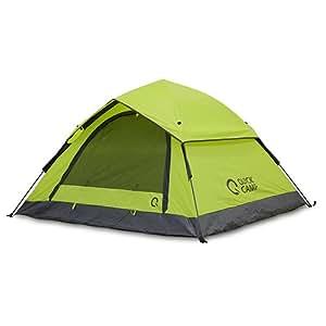 クイックキャンプ ワンタッチテント 3人用 210×190cm 撥水・UVカット加工 フライシート付き サンシェードテント グリーン QC-OT210