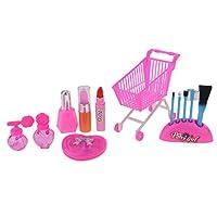 Fenteer ガール 化粧品 玩具 口紅 ブラシ メイクアップ キット バービー人形対応 贈り物