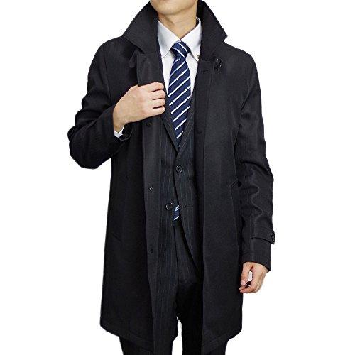 (ブルーム) BLOOM 2017 ビジネスコート ふんわりと軽い 極上タッチコート 大きいサイズ メンズ スタンドカラー ブラック 4L