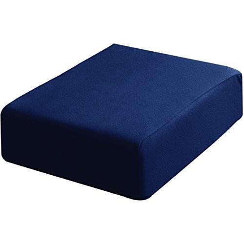 ottostyle.jp 低反発座布団クッション スクエアタイプ 45×45×15cm 【ヘタリを抑える3層構造/表と裏で異なる感触】 ミッドナイトブルー