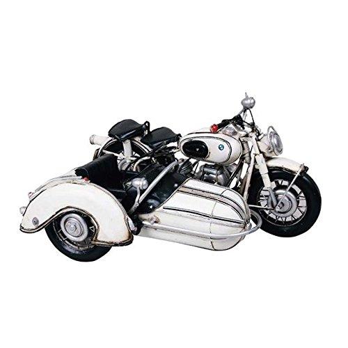 ブリキのおもちゃ バイクのおもちゃ ヴィンテージバイク ビンテージバイク アメリカン雑貨 アンティークトイ サイドカー【ホワイト】