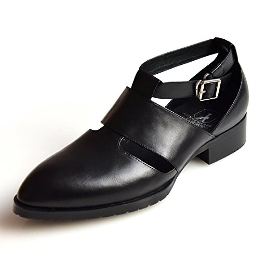 巧みなハチ農業のcnstone ビジネス シューズ メンズ 革靴 サンダル モンクストラップ スリッポン 紳士靴 大きいサイズ 通気性 黒 ブラック ブルー
