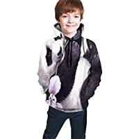 Cyloten Kid's Sweatshirt Cute Panda Novelty Hoodies Comfortable Warm Hooded Top Sweatshirt